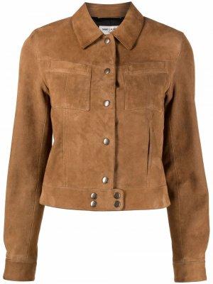 Куртка на кнопках с карманами Saint Laurent. Цвет: коричневый