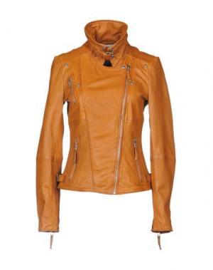 Куртка FREAKY NATION. Цвет: желто-коричневый