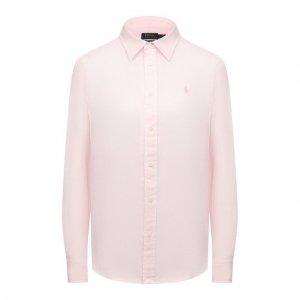 Льняная рубашка Polo Ralph Lauren. Цвет: розовый