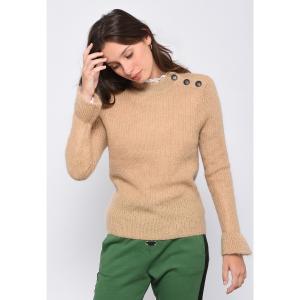 Пуловер с круглым вырезом из вязаного трикотажа MUCHACHA LEON AND HARPER. Цвет: серо-зеленый,темно-синий