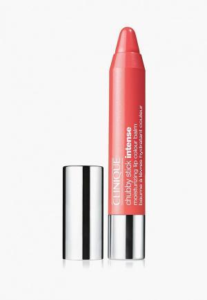 Бальзам для губ Clinique Chubby Stick Intense Moisturizing Lip Colour Balm, 04 Heftiest Hibiscus, 3 гр.. Цвет: розовый