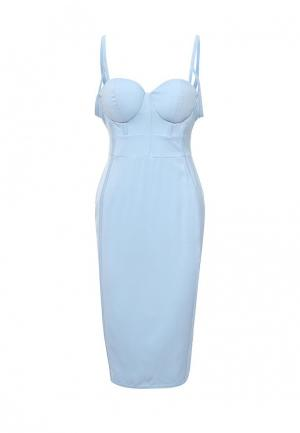 Платье LOST INK BREA BUSTCUP DETAIL DRESS. Цвет: голубой