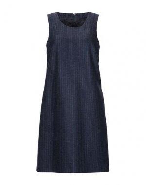 Короткое платье CAPPELLINI by PESERICO. Цвет: темно-синий