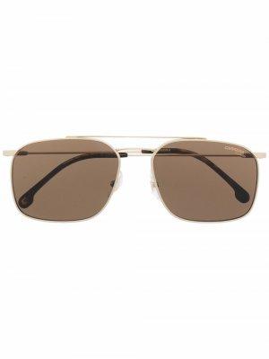 Солнцезащитные очки Dohku в квадратной оправе Carrera. Цвет: золотистый