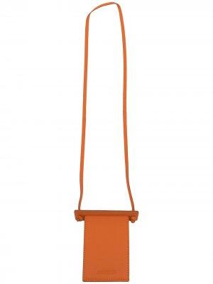 Картхолдер с тисненым логотипом Jacquemus. Цвет: оранжевый