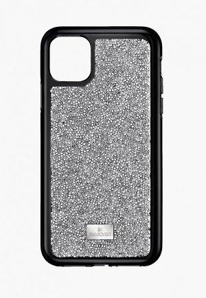 Чехол для iPhone Swarovski® 11 PRO Glam Rock. Цвет: серебряный