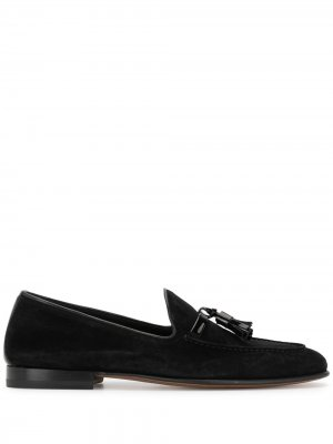 Suede tassel loafers Malone Souliers. Цвет: черный