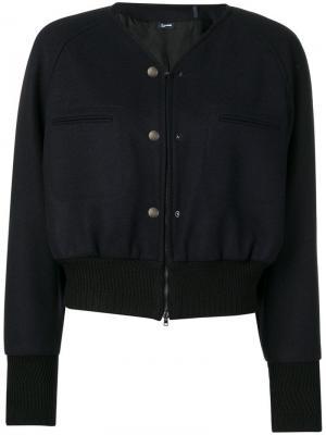 Укороченная куртка-бомбер Jil Sander Navy. Цвет: синий