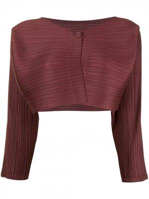 Укороченный плиссированный жакет Cantabile Pleats Please Issey Miyake. Цвет: красный