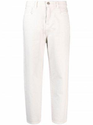 Укороченные джинсы прямого кроя TWINSET. Цвет: нейтральные цвета