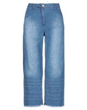 Джинсовые брюки-капри SHAFT. Цвет: синий