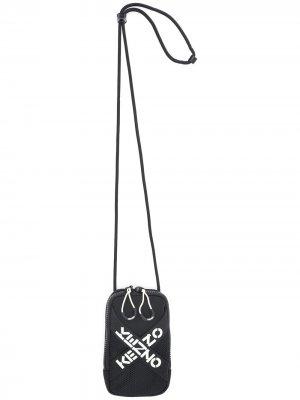 Кошелек со шнурком на шею и логотипом Kenzo. Цвет: черный