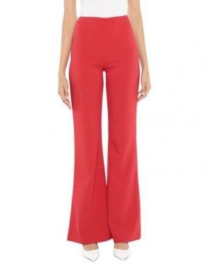 Повседневные брюки FOREVER UNIQUE. Цвет: красный