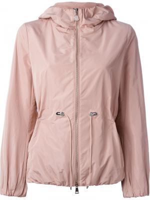 Куртка-ветровка с капюшоном Moncler. Цвет: розовый и фиолетовый
