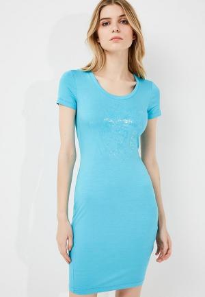 Платье Versace Jeans. Цвет: голубой