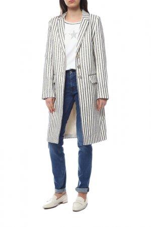 Пальто летнее La Reine Blanche. Цвет: бежевый