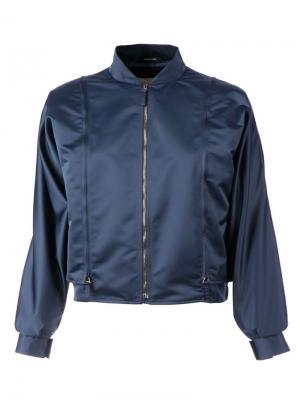 Укороченная куртка-бомбер Maison Margiela. Цвет: синий