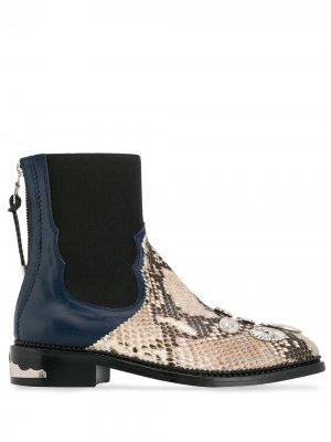 Ботинки челси Toga Pulla. Цвет: синий