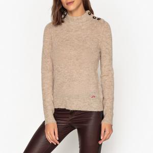 Пуловер с воротником-стойкой из тонкого трикотажа MIMOSA LEON AND HARPER. Цвет: серый