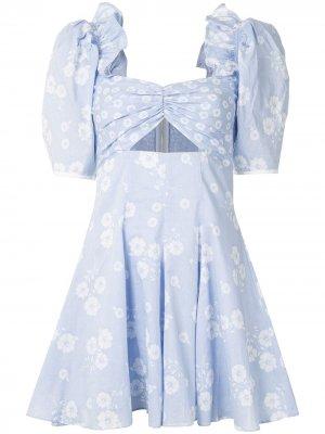Платье мини Izabella Alice McCall. Цвет: синий