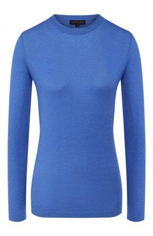 Кашемировый пуловер Escada. Цвет: голубой