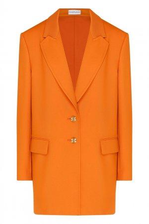 Оранжевый пиджак на пуговицах Chapurin. Цвет: оранжевый
