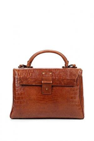 Сумка-портфель OLCI. Цвет: коричневый