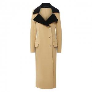 Шерстяное пальто Proenza Schouler. Цвет: бежевый