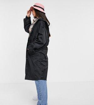 Черная парка-дождевик ASOS DESIGN Tall-Черный цвет Tall