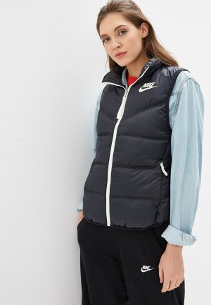 Жилет утепленный Nike Sportswear Down Fill Womens Reversible Vest. Цвет: черный