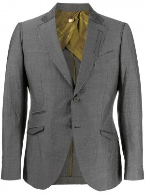 Однобортный пиджак Maurizio Miri. Цвет: серый