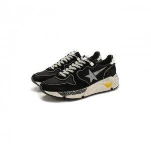 Комбинированные кроссовки Running Sole Golden Goose Deluxe Brand. Цвет: чёрный