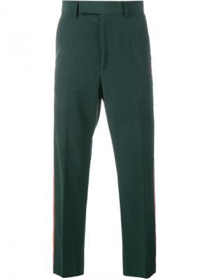 Классические брюки Gucci. Цвет: зелёный
