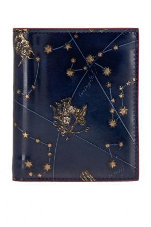 Кожаный кошелек M Paros Christian Louboutin. Цвет: синий