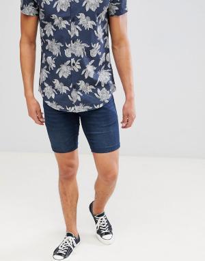 Синие джинсовые шорты -Серый Lindbergh