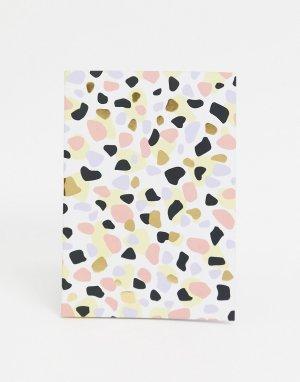 Блокнот с принтом в стиле терраццо -Мульти Monki