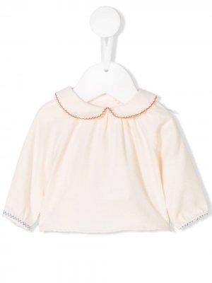 Блузка с вышивкой Knot. Цвет: нейтральные цвета