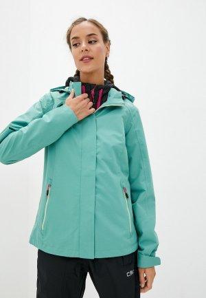 Куртка CMP. Цвет: бирюзовый