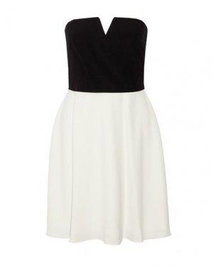 Короткое платье HALSTON. Цвет: черный