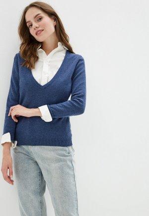 Пуловер Colletto Bianco. Цвет: синий