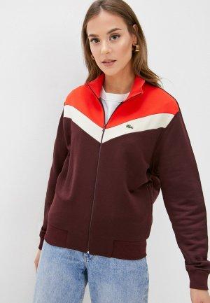 Олимпийка Lacoste. Цвет: бордовый