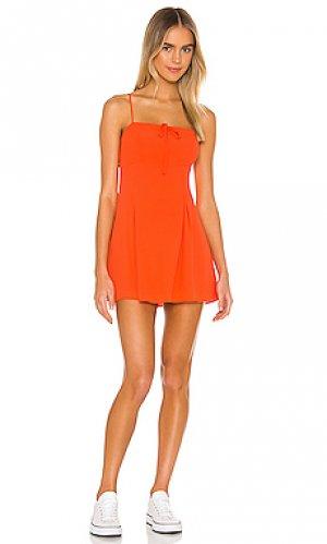 Платье kimberlee MAJORELLE. Цвет: оранжевый