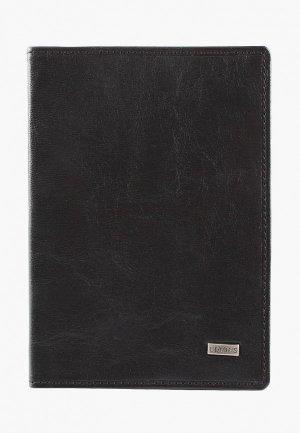 Обложка для паспорта Edmins. Цвет: черный