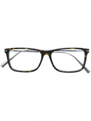 Tortoiseshell-effect square glasses Ermenegildo Zegna. Цвет: золотистый