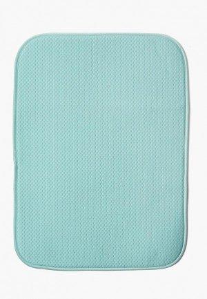 Салфетка сервировочная DeNastia Коврик для сушки посуды DeНАСТИЯ, 38*51 см. Цвет: бирюзовый