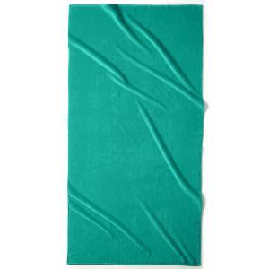 Полотенце пляжное из велюра, 420 г/м², SCENARIO LA REDOUTE INTERIEURS. Цвет: зеленый  атолл