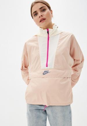 Ветровка Nike W NSW ICN CLSH JKT LW. Цвет: бежевый