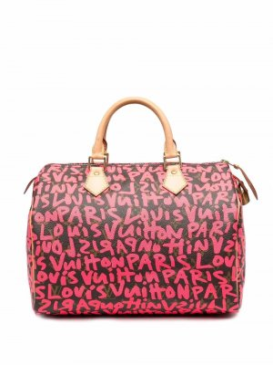 Сумка-тоут Speedy pre-owned Louis Vuitton. Цвет: розовый