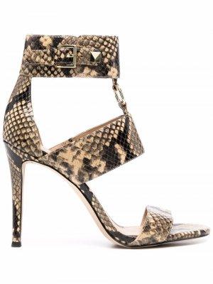 Amos snakeskin-effect leather sandals Michael Kors. Цвет: нейтральные цвета