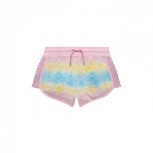 Хлопковые шорты Alberta Ferretti junior. Цвет: розовый
